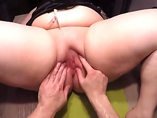 Extreme Punch Fisting Double Fisting Huge Slippery BBW Cunt